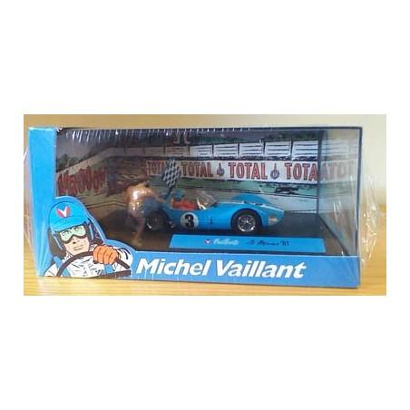Michel Vaillant autootje Le Mans '61 (blauwe nr. 3 + 2 poppetjes)