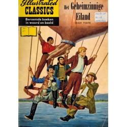 Illustrated Classics 21 Reclame album Het geheimzinnige eiland 1e druk 1956