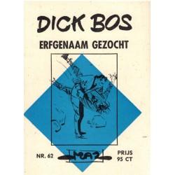 Dick Bos M62 Erfgenaam gezocht 1e druk 1966