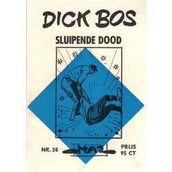Dick Bos M58 Sluipende dood 1e druk 1966