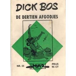 Dick Bos M55% De dertien afgodjes 1e druk 1966