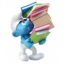 Smurfen  beeld Smurf smurft stapel boeken