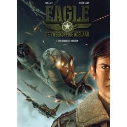 Tweekoppige adelaar Eagle HC 01 Een bewolkte horizon