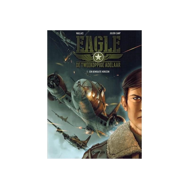 Tweekoppige adelaar Eagle 01 Een bewolkte horizon