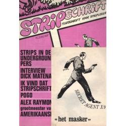 Stripschrift 016 1e druk 1970 met bijlage Secret Agent X Het masker