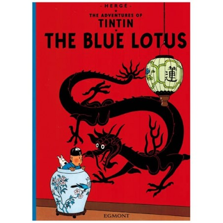 Kuifje  UK 04 Tintin The Blue Lotus