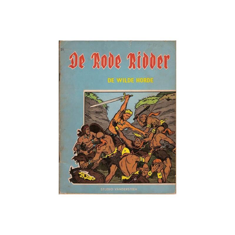 Rode Ridder blauw/bruin 021% De wilde horde 1e druk 1964