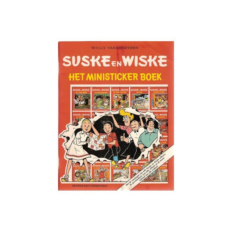 Suske & Wiske Het ministicker boek met alle stickers (ingeplakt) herdruk 1988