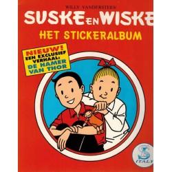 Suske & Wiske Stickeralbum De hamer van Thor (compleet met stickers) 1e druk 1995