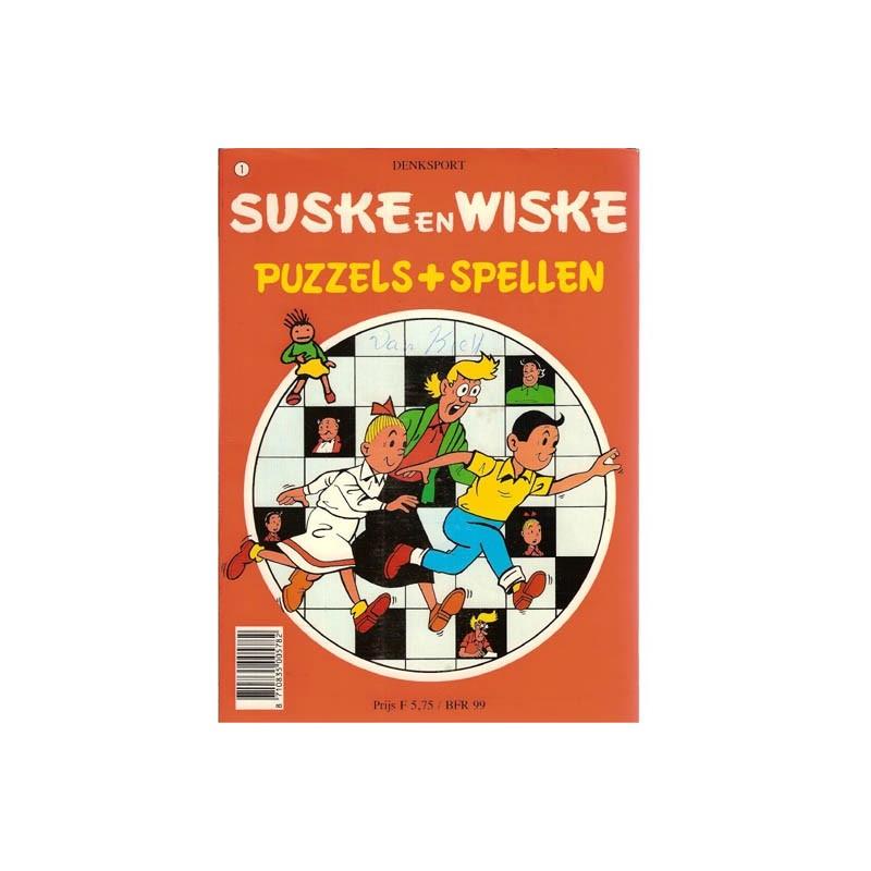 Suske & Wiske reclamealbum Puzzels + spellen 1e druk 1982 (ingevuld)