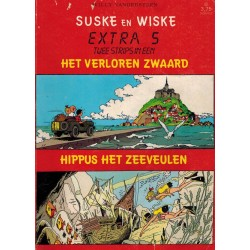 Suske & Wiske reclamealbum Extra 05% Het verloren zwaard 1e druk 1987