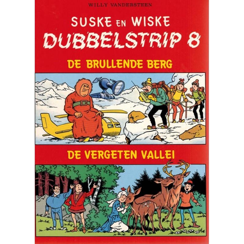 Suske & Wiske reclamealbum Dubbelstrip 08 De brullende berg + De vergeten vallei 1e druk 1987