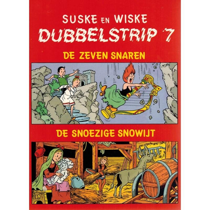 Suske & Wiske reclamealbum Dubbelstrip 07 De 7 snaren + De snoezige snowijt 1e druk 1987