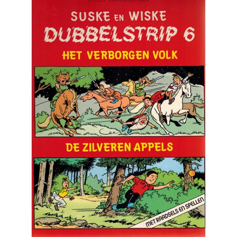 Suske & Wiske reclamealbum Dubbelstrip 06 (88) Het verborgen volk + De zilveren appels 88 pagina's 1e druk 1987