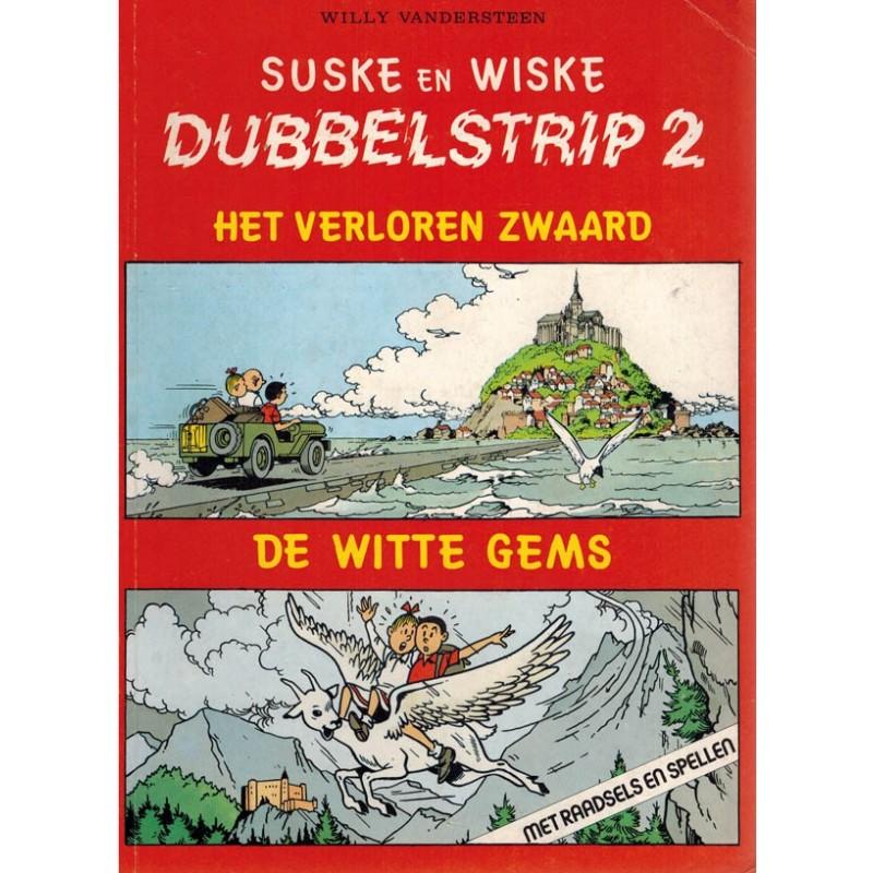 Suske & Wiske reclamealbum Dubbelstrip 02 (80) Het verloren zwaard + de witte gems 80 pagina's herdruk