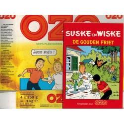 Suske & Wiske reclamealbum Gouden friet 1e druk 1990 (Ozo) met doosje