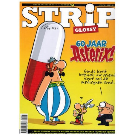 Strip glossy 14 Asterix 60 jaar, Achde, Jippes, Tom Poes, Saul