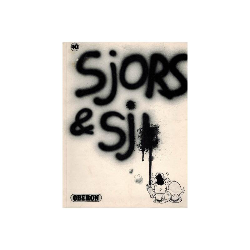 Sjors & Sji Oberon zwart-wit reeks 40 Sjors en Sjimmie 1e druk 1980