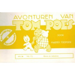 Tom Poes Stripschap 36 Horror de ademloze 1e druk 1976 700-771