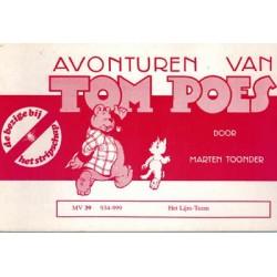 Tom Poes Stripschap 39 Het Lijm-teem 1e druk 1978 934-999