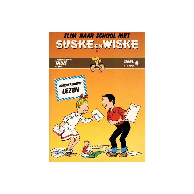 Suske & Wiske reclamealbum Slim naar school met Suske & Wiske 04 1e druk 1988