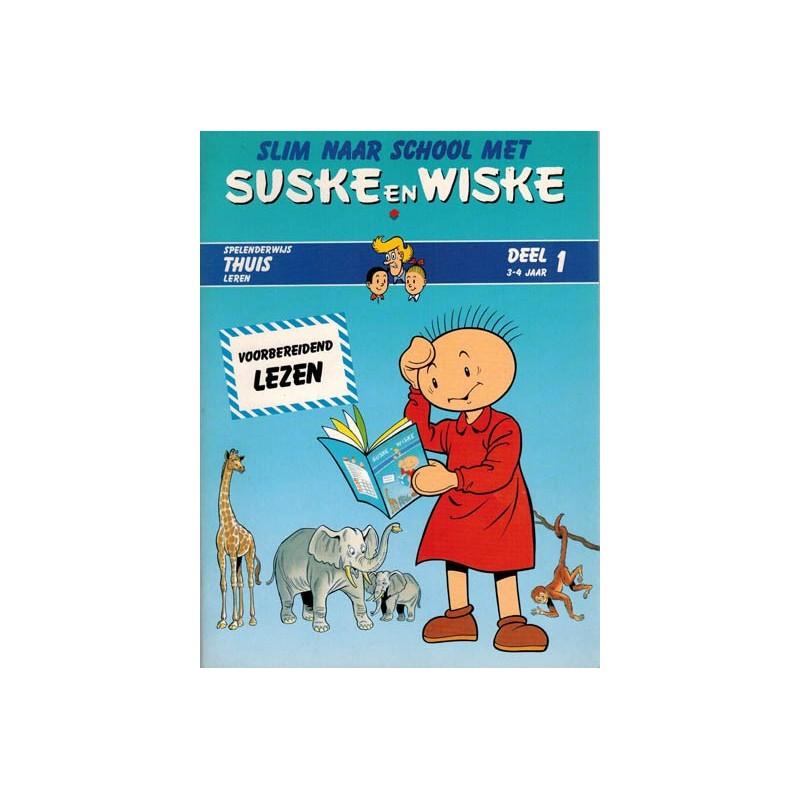 Suske & Wiske reclamealbum Slim naar school met Suske & Wiske 01 1e druk 1988