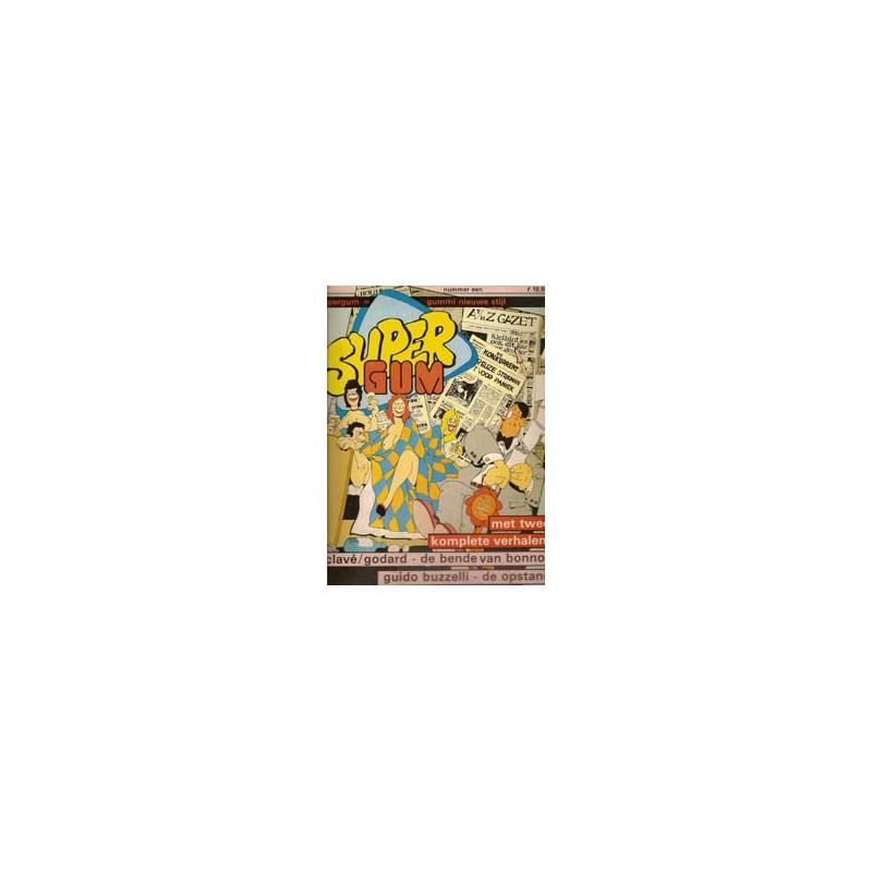 Supergum set deel 1 t/m 3 1e druk 1980-1981 Gummi nieuwe Stijl