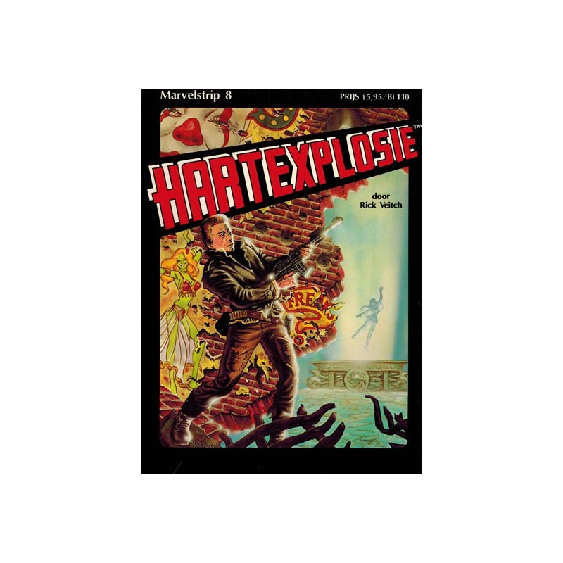 Marvelstrip 08 Hartexplosie 1e druk 1984