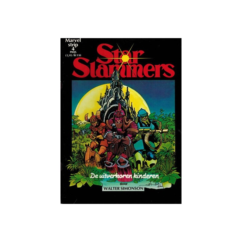 Marvelstrip 04 Star Slammers De uitverkoren kinderen 1e druk 1984