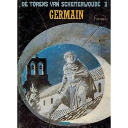 Torens van Schemerwoude HC 03 Germain 1e druk 1987 zonder streepjescode op achterblad