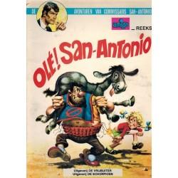 Kommissaris San-Antonio 01 Ole! San-Antonio 1e druk 1973 (met prijsvermelding op achterblad)