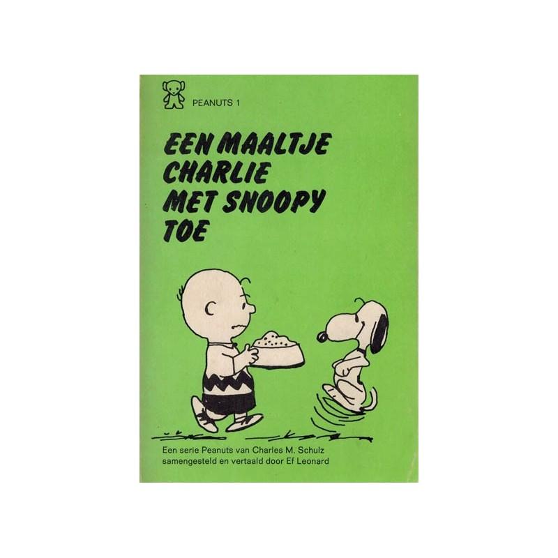 Peanuts Zwarte beertjes pocket 01 Een maaltje met Snoopy toe 1e druk 1970