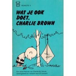 Peanuts Zwarte beertjes pocket 03 Wat je ook doet, Charlie Brown! 1e druk 1971