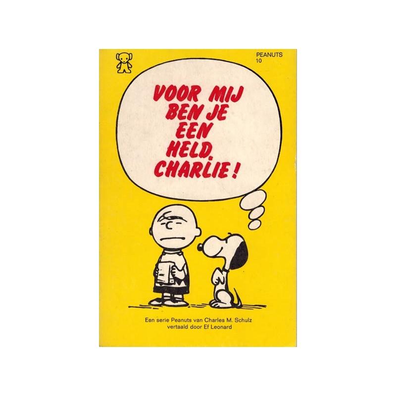 Peanuts Zwarte beertjes pocket 10 Voor mij ben je een held, Charlie! 1e druk 1974