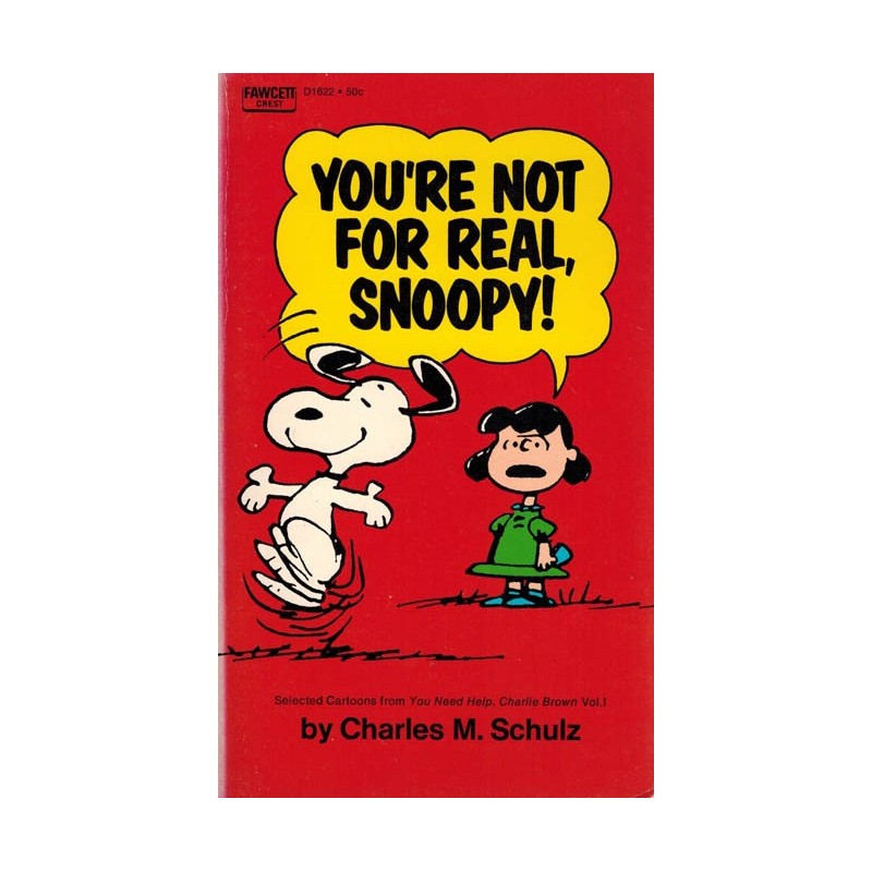 Peanuts pocket USA 30 You're nor for real, Snoopy! first printing 1971