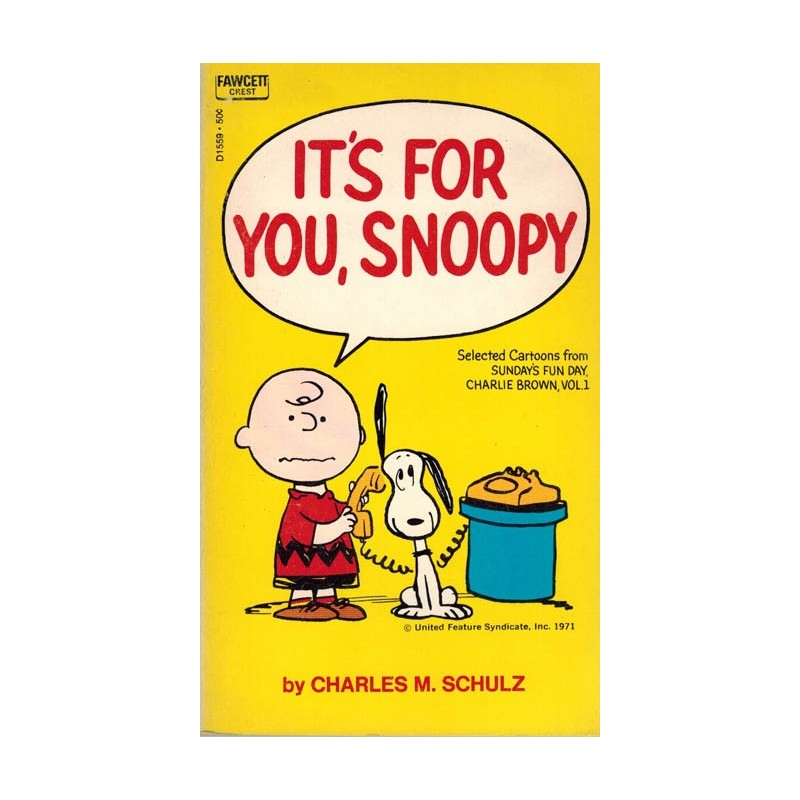 Peanuts pocket USA 28 Its for you, Snoopy first printing 1971