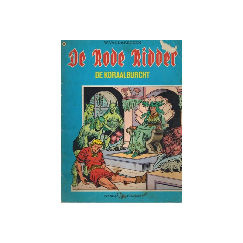 Rode Ridder Blauw/bruin 055% De koraalburcht 1e druk 1972