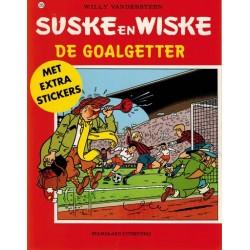 Suske & Wiske 225 De goalgetter herdruk met stickervel 1998 (naar Willy Vandersteen)