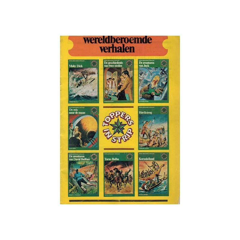 Toppers in strip Wereldberoemde verhalen informatieboekje bij nr's 41-48 1e druk 1974