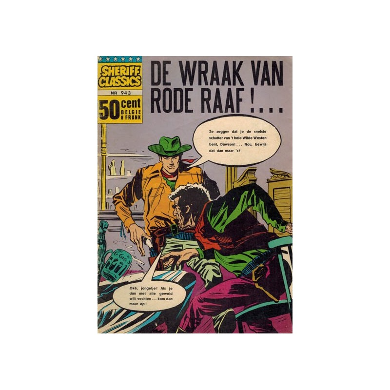 Sheriff classics 943 De wraak van de rode raaf!.. 1e druk 1965