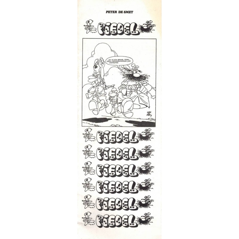 Fiedel (bijlage Striprofiel) 1e druk 1982