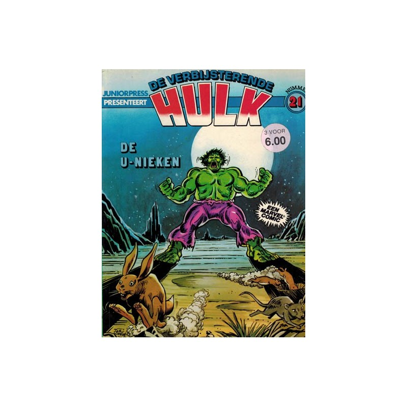 Hulk album 21 De U-nieken 1e druk 1982