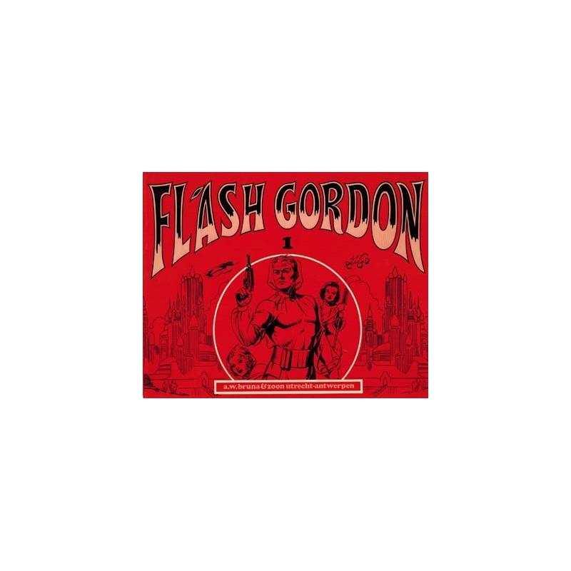 Flash Gordon set deel 1 t/m oblong Bruna 1e drukken 1972-1973