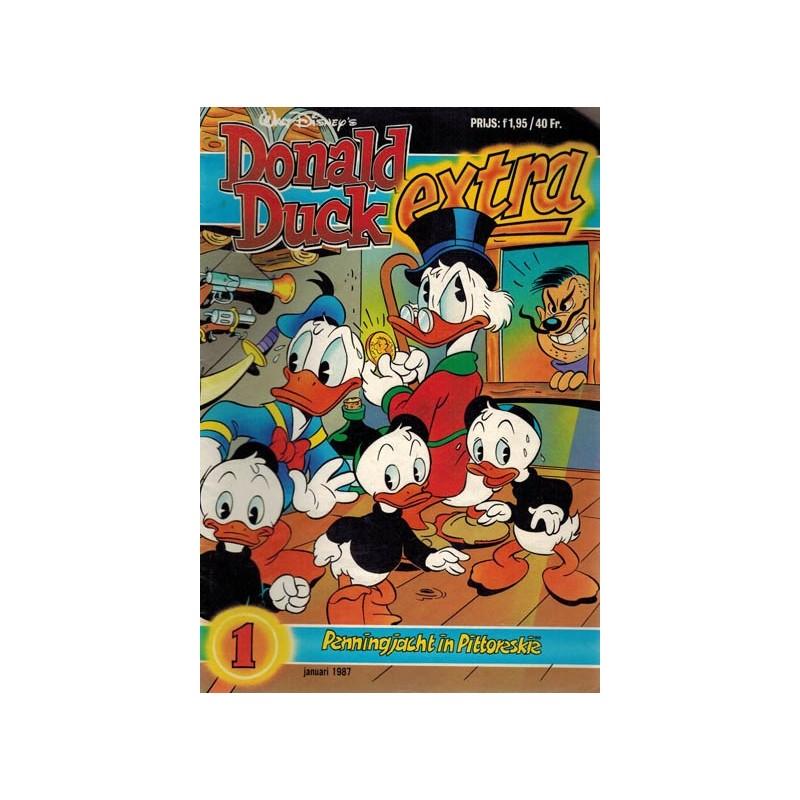 Donald Duck Extra 1987 01 Penningjacht in Pittoreskie 1e druk