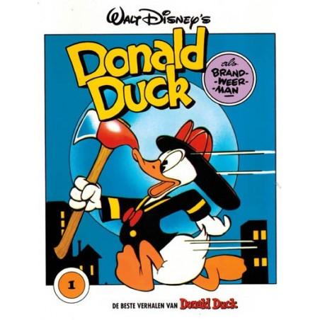 Donald Duck beste verhalen 001 Als brandweerman herdruk blauw