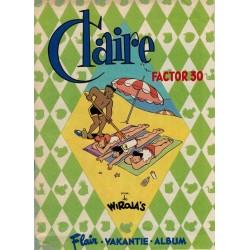 Claire bijlage Flair vakantie album Factor 30 (oorspronkelijk bij Flair 33 1994)