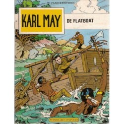 Karl May 28<br>De flatboat<br>herdruk 1977